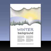 Flyer or Cover Design - Winter Time — Stock Vector