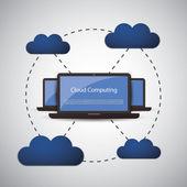 Cloud Computing Concept — Cтоковый вектор