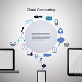 Concetto di cloud computin — Vecteur