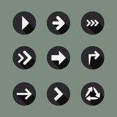 Collection of Arrow Icons — Stockvector