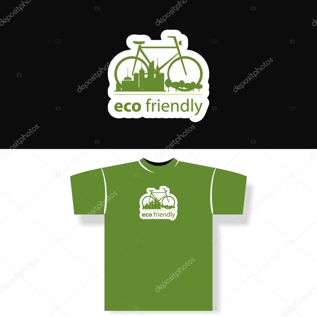 Eco friendly t shirt design stock vector bagotaj for Environmentally friendly t shirts