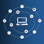 Cloud computing concept — Stockvector