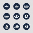 Stock Vector: Boat and Ship Icons