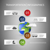 Infographic Design with Transportation Icons — Stock Vector