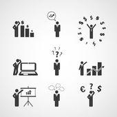 数据显示,人们的图标 - 商业概念设计 — 图库矢量图片