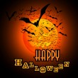 Happy Halloween Card - Vector Illustration — Imagens vectoriais em stock