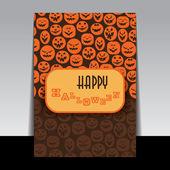 Halloween flyer of cover ontwerpen — Stockvector