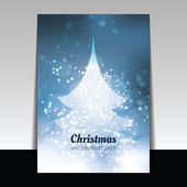 Christmas Card - Vector Background Illustration — Stock Vector