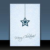Weihnachts-flyer oder cover entwerfen — Stockvektor