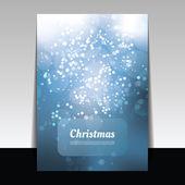 Christmas Card - Vector Background Illustration — Stock Vector