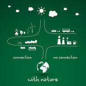 Eco Infographic Design — Stock Vector