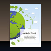 Environmentally Friendly Planet - Flyer Vector Illustration — Stock Vector