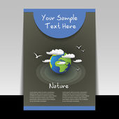 Flyer or Cover Design - Business Vector Illustration — Cтоковый вектор