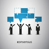 Consensus - Speech Bubble Concept — Stock Vector
