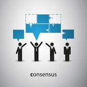 Consensus - Speech Bubble Concept — Stock Vector