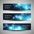 Set of horizontal Christmas or New Years banners — Imagens vectoriais em stock