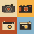 Retro Icons - Cameras — Stock Vector