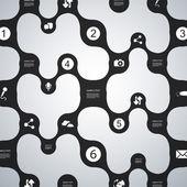 Network Infographic Design — Stock Vector