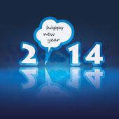 New Year Card - 2014 — Stok Vektör