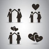 Love - Icon Designs — Stock Vector