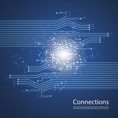 Připojení - grafický design sítě — Stock vektor