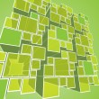 Abstract Transparent Green Prism Background Vector — Imagen vectorial