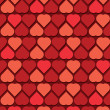 Background - Hearts Pattern — Stock Vector