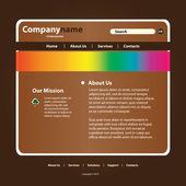 Website Template Vector — Stock Vector
