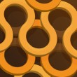 Brown and Orange Abstract Rings Background — Stock Vector