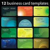 Set of Colorful Business Card Backgrounds — Stock Vector