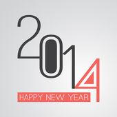 Retro New Year Card - 2014 — ストックベクタ
