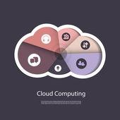 Concetto di cloud computin — Vettoriale Stock