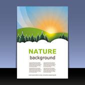 Flygblad eller cover design — Stockvektor