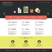 Plantilla de sitio web para su negocio o blog — Vector de stock