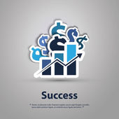 Success - Graphic Design Concept — Stock Vector