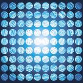 Blue Circular Grid background — Stock Vector
