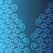 Blue Curled Background — Stockvektor #40312497