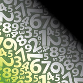 Seamless Background With Numbers — Stok Vektör