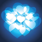 Blue Hearts Valentine Background — Stock Vector