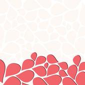 Pink Petals Invitation Template — Stock Vector