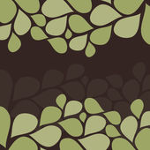 Flower Petals Invitation Template — Stock Vector