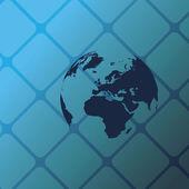 Eco Globe Background — Stock Vector