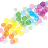 Colorful bubbles background — Stock Vector