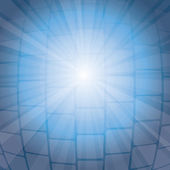 Blue light ray background — Vettoriale Stock