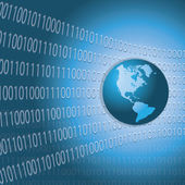 Worldwide Information Background — Stock Vector