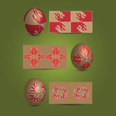 Easter Eggs and Ornamental Patterns — Stockvector