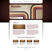 Website Template with Abstract Header Design - Colorful Retro Styled Pattern — Stock Vector
