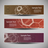 Banner or Header Design with Abstract Globes — Stockvector