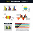 Colorful Set of Infographic Elements - Banners, Charts, Speech Bubbles — Stock Vector