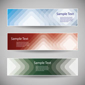 Banner or Header Designs with Abstract Squares Pattern — Stock Vector